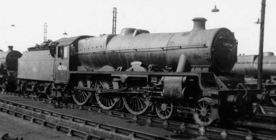 45704 Leviathan at Longsight on 26 June 1960