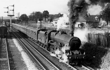 45705 Seahorse with the LCGB High Peak Tour at Cheadle Heath, June 1965