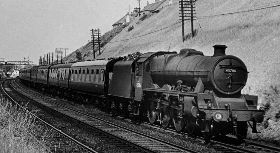 45706 Express at Hest Bank, 20 June 1959