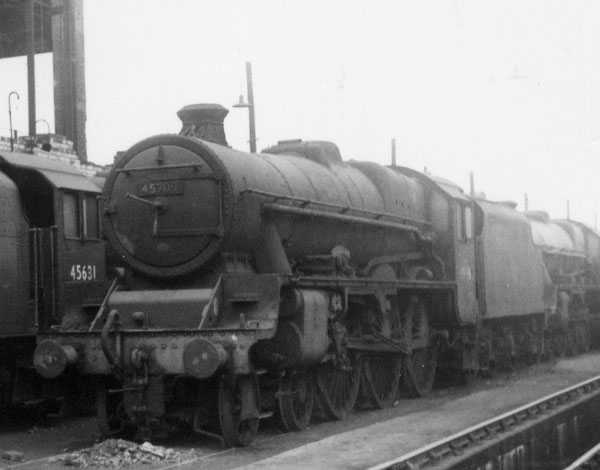 45709 Implacable at Longsight MPD on 22 February 1963