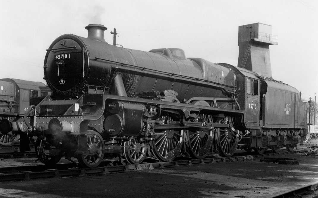 45710 Irresistible at Carnforth MPD, 7 June 1961