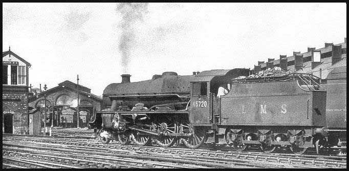 45720 Indomitable still with LMS livery tender, at Chester on 18 September 1948