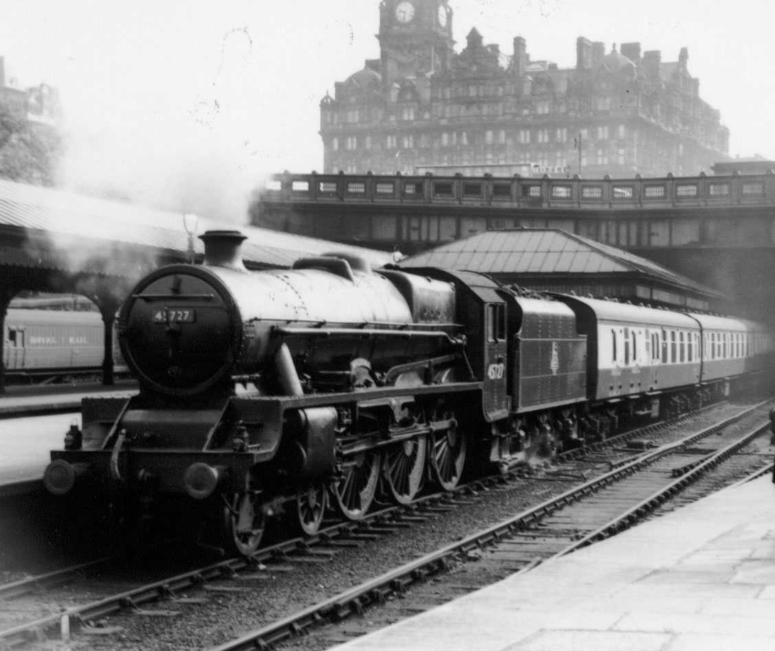 45727 Inflexible at Edinburgh Waverley on 1 June 1959