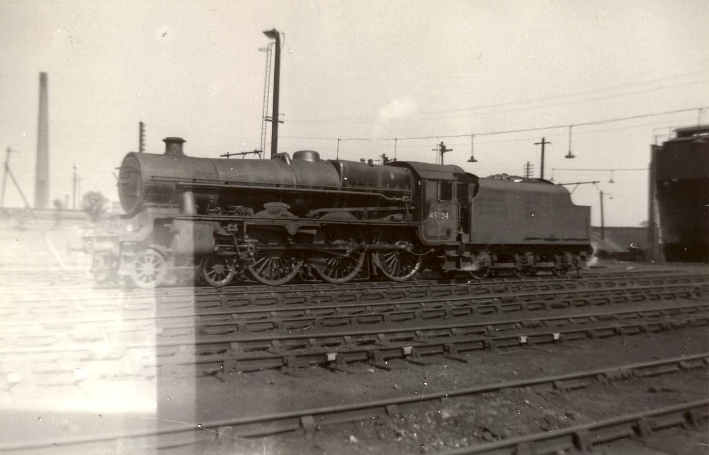 45734 Meteor at Patricroft shed on Boxing Day 1961 or 1962