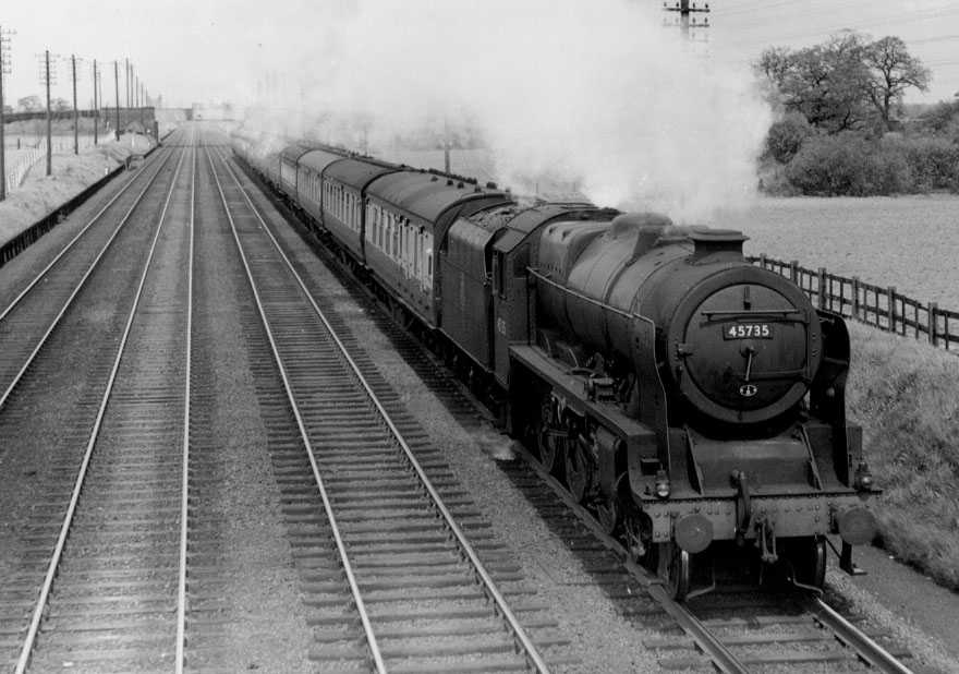 45735 Comet near Basford Hall on 10 May 1952
