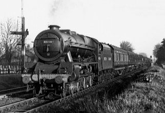 45736 Phoenix at Cheadle, 12 December 1948
