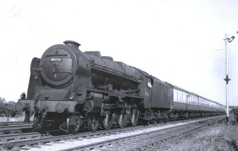 45736 Phoenix at Gayton Loops, 9 July 1955